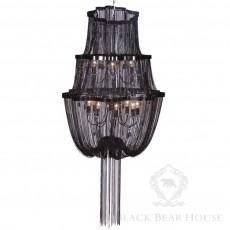 czarny żyrandol black bear house