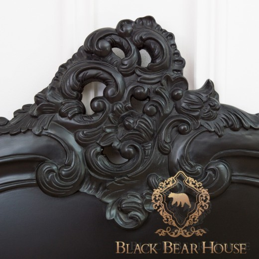 francuskie łóżko black bear house