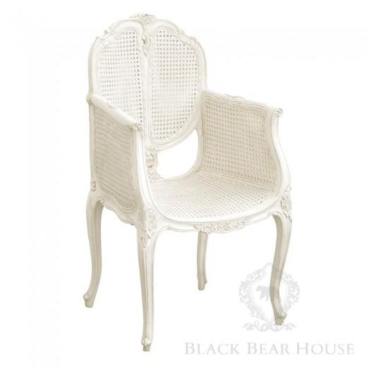 francuskie rattanowe krzesło black bear house