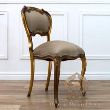 francuskie złote krzesło toaletkowe black bear house
