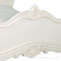 francuskie białe łóżko black bear house