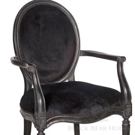 francuskie krzesło z oparciem