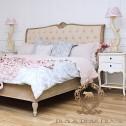 łóżko francuskie pikowane przecierane black bear house