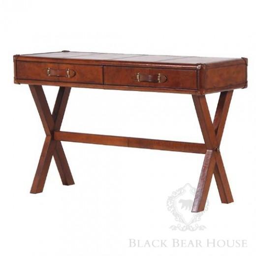skórzane biurko black bear house