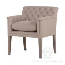 tapicerowany fotel pikowany black bear house