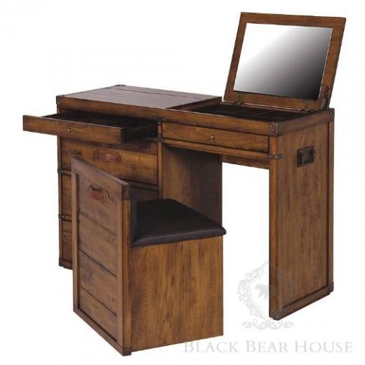 drewniane biurko black bear house