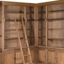 biblioteka drewniana black bar house