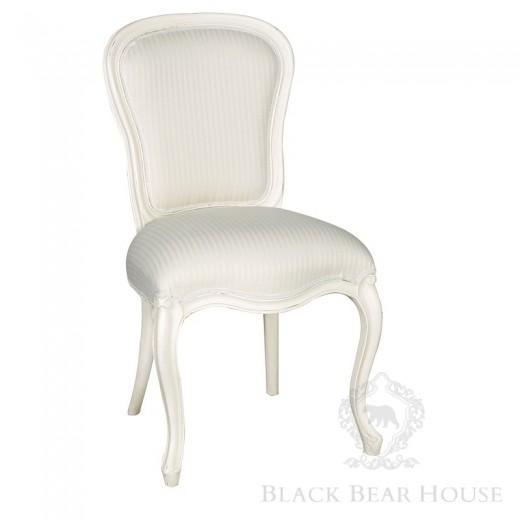 francuskie białe krzesło black bear house