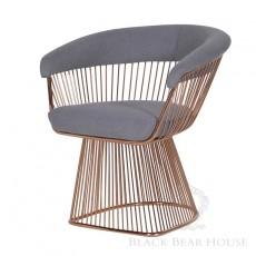 fotel na aluminiowych nogach black bear house