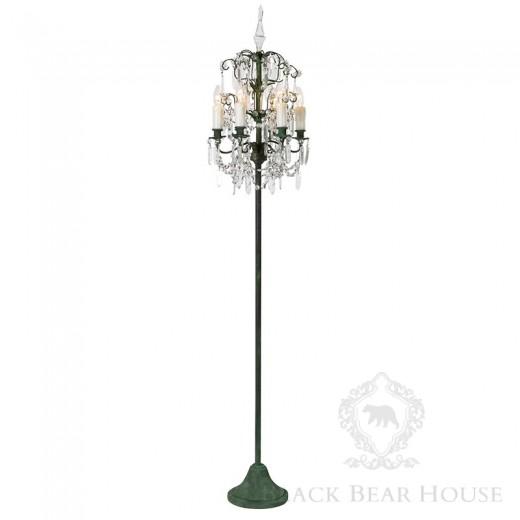 kryształowa lampa stojąca black bear house