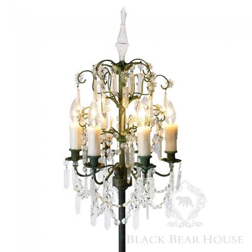 lampa stojąca kryształowa black bear house