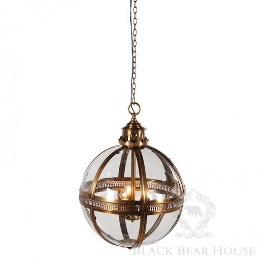 lampa złota kula black bear house
