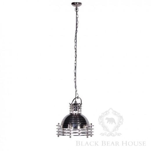 srebrna lampa reflektor black bear house