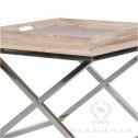 stolik na aluminiowych nogach black bear house