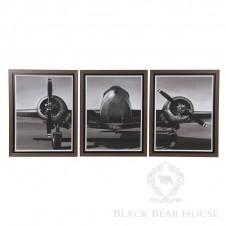 Tryptyk samolotu z II Wojny Światowej
