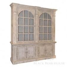 drewniana witryna shabby chic blackbearhouse