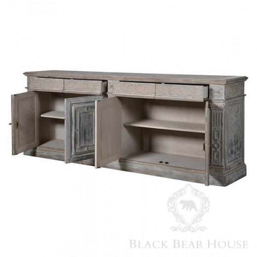 duża komoda shabby chic black bear house1