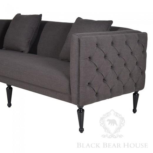 kanapa w stylu glamour tapicerowana aksamitem black bear house