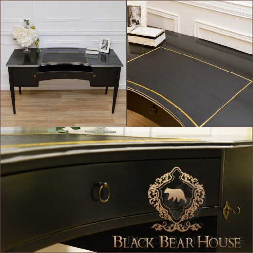 klasyczne czarne biurko