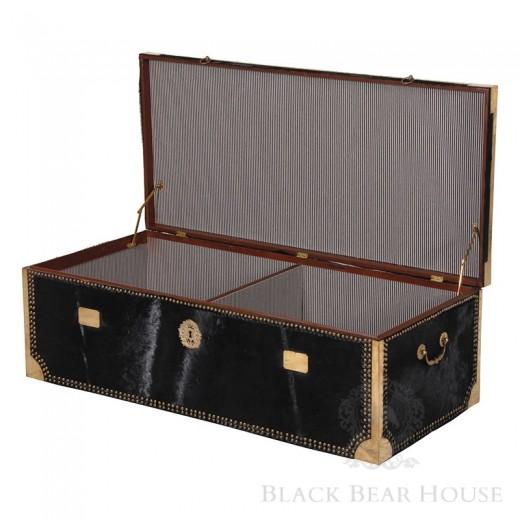skrzynia obita aksamitem black bear house