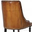 skórzane krzesło vintage black bear house