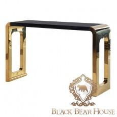 konsola złoto czarna w stylu nowojorskim black bear house