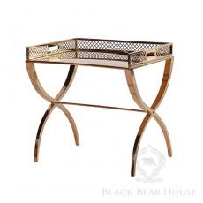 stolik na niklowanych nogach black bear house