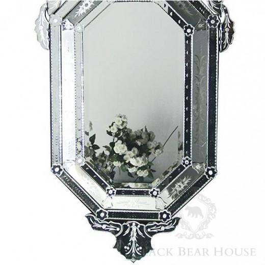 weneckie okrągłe lustro black bear house