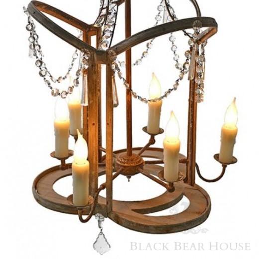 francuski żyrandol z kryształkami black bear house