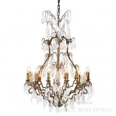 francuski duży kryształowy żyrandol black bear house