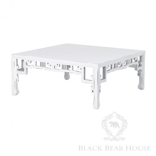 biały stolik kawowy black bear house