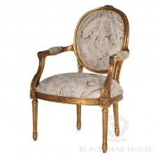 francuskie krzesło black bear housea