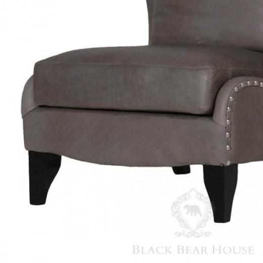 fotel tapicerowany skórą black bear house