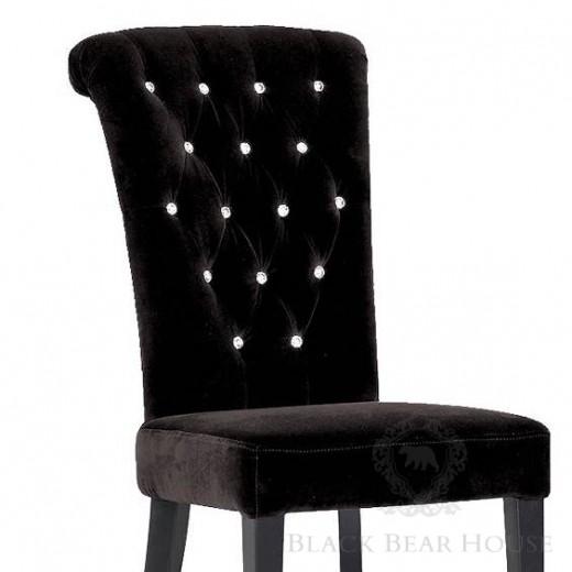 krzesło tapicerowane black bear house