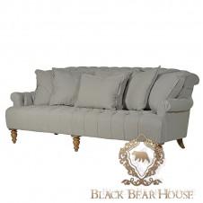pikowana szara sofa black bear house