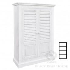 biała prowansalska szafa black bear house