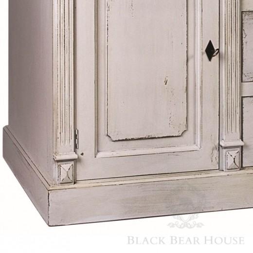 drewniana szara komoda black bear house