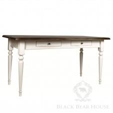 drewniany stół na jednej nodze black bear house