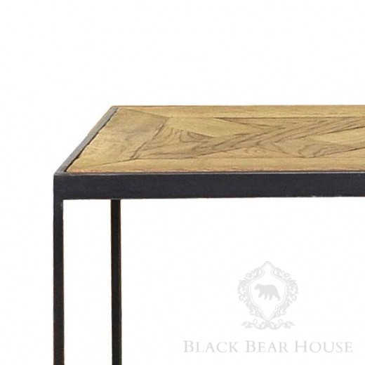 konsola na żeliwnych nogach black bear house