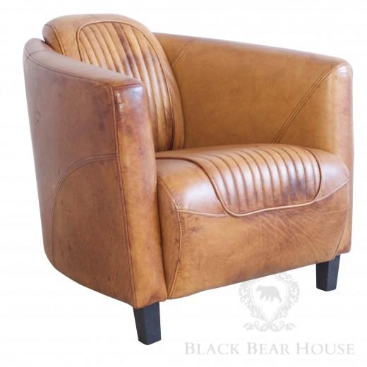 skórzany fotel lotniczy black bear house