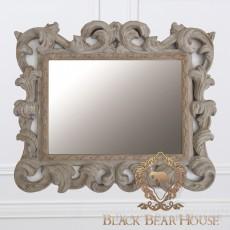 francuskie ażurowe szare lustro black bear house
