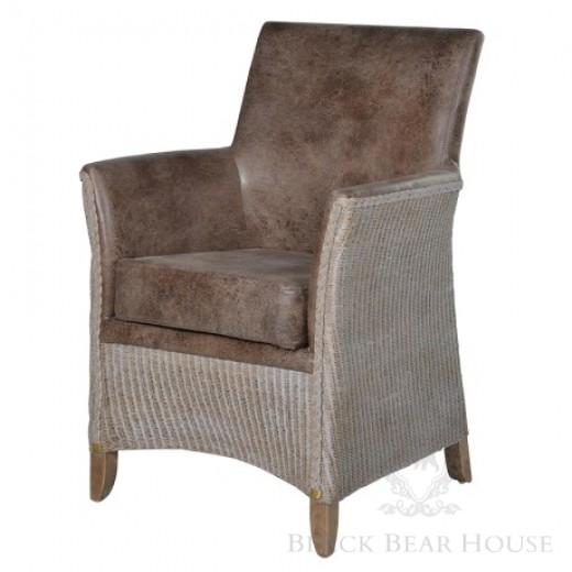 rattanowy fotel