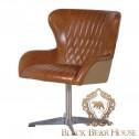 fotel na aluminiowej nodze