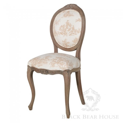 francuskie krzesło Toile de jouy