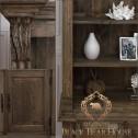 drewniany rustykalny regał