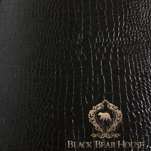 komoda czarna skóra modern classic black bear house