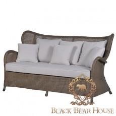 sofa z rattanu