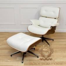 fotel skórzany z podnóżkiem