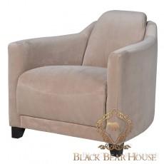 fotel tapicerowany aksamitem