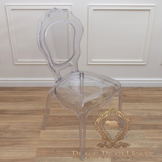 przezroczyste krzesło francuskie
